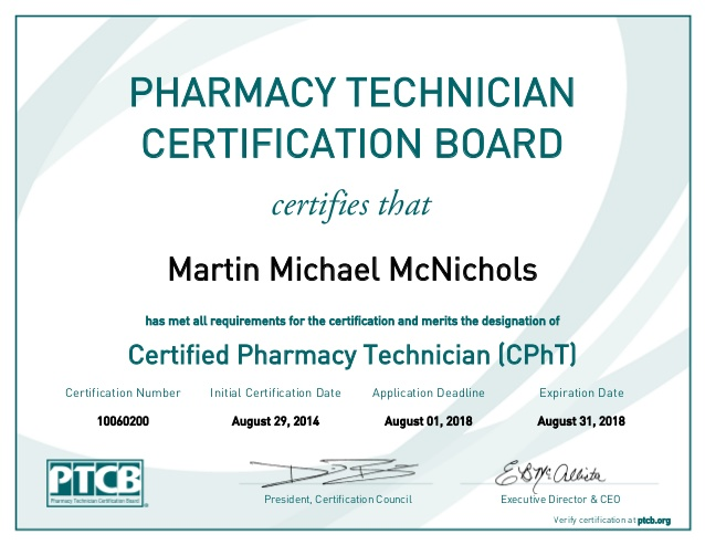 certified pharmacy technician