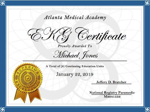 ekg technician certificate