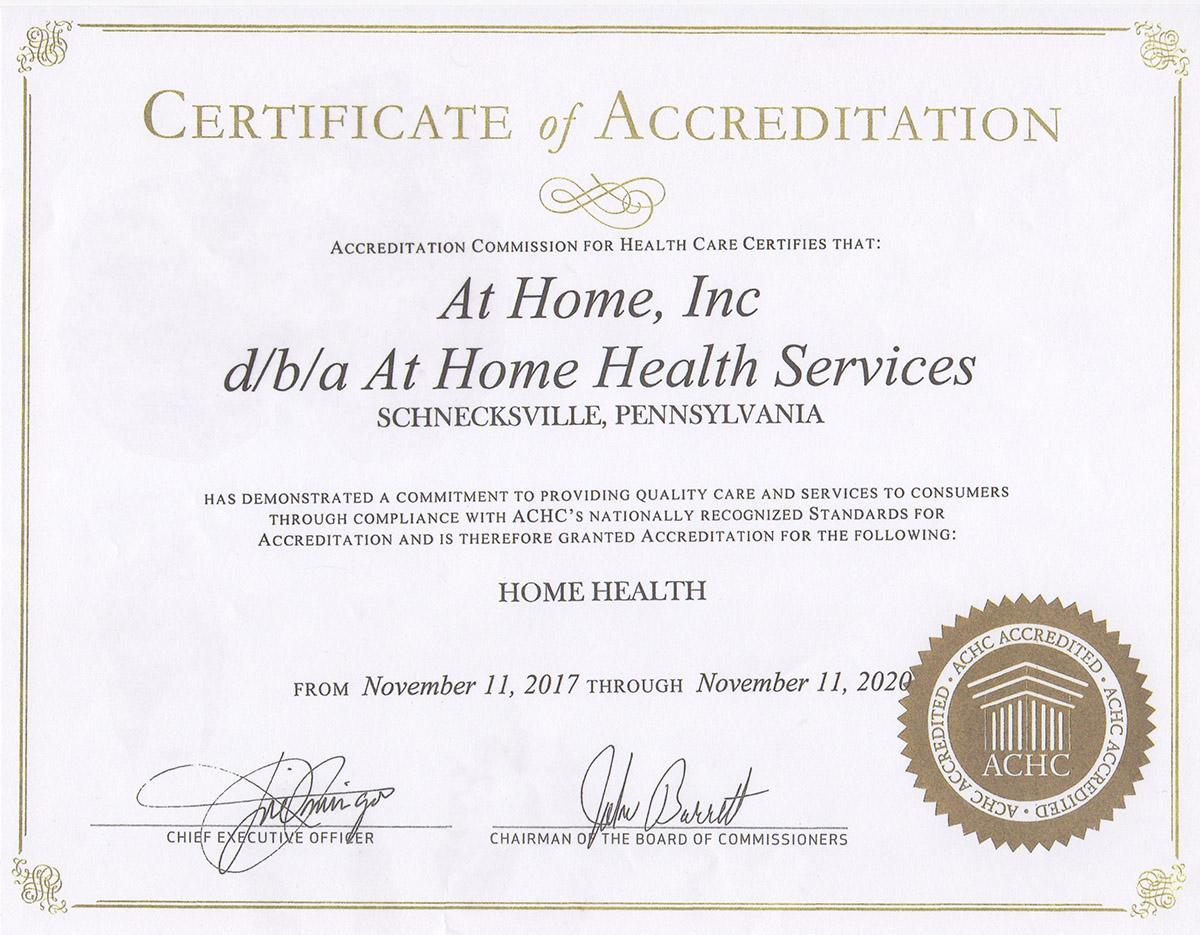 hha certificate