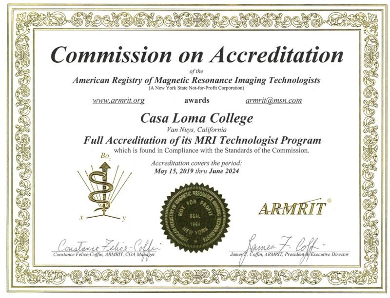 mri technologist certificate