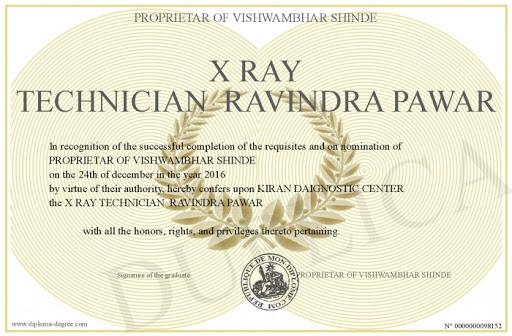 x ray technician certificate